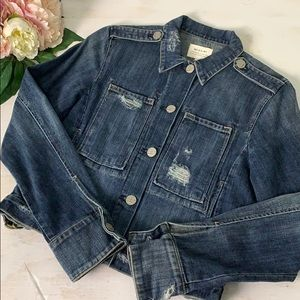 McGuire DIstressed Denim Jacket Size Extra Small